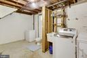 Large Room with laundry/storage/half bath room - 2415 EVANS DR, SILVER SPRING