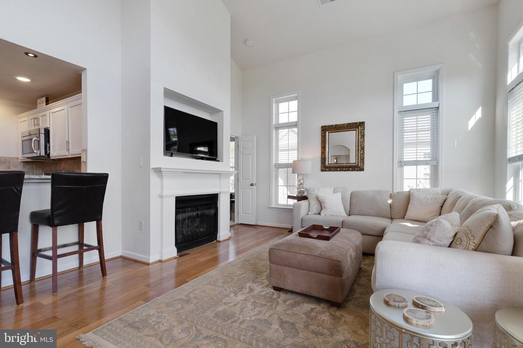 Family Room with Gas Fireplace - 505 SUNSET VIEW TER SE #308, LEESBURG