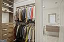 Custom walk-in closet - 609 MARYLAND AVE NE #1, WASHINGTON