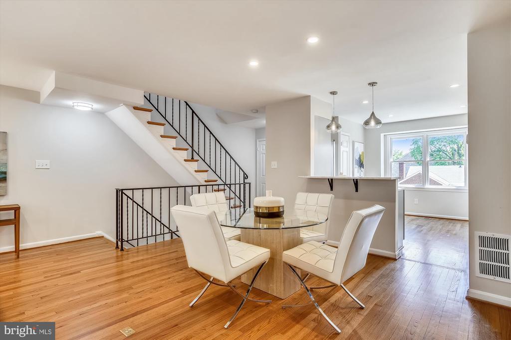 Open Floor Plan - Dining Room & Kitchen - 1186 N VERMONT ST, ARLINGTON