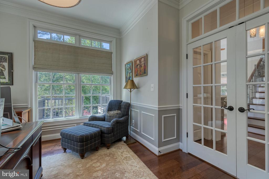 Main-level study with French doors. - 42091 NOLEN CT, LEESBURG