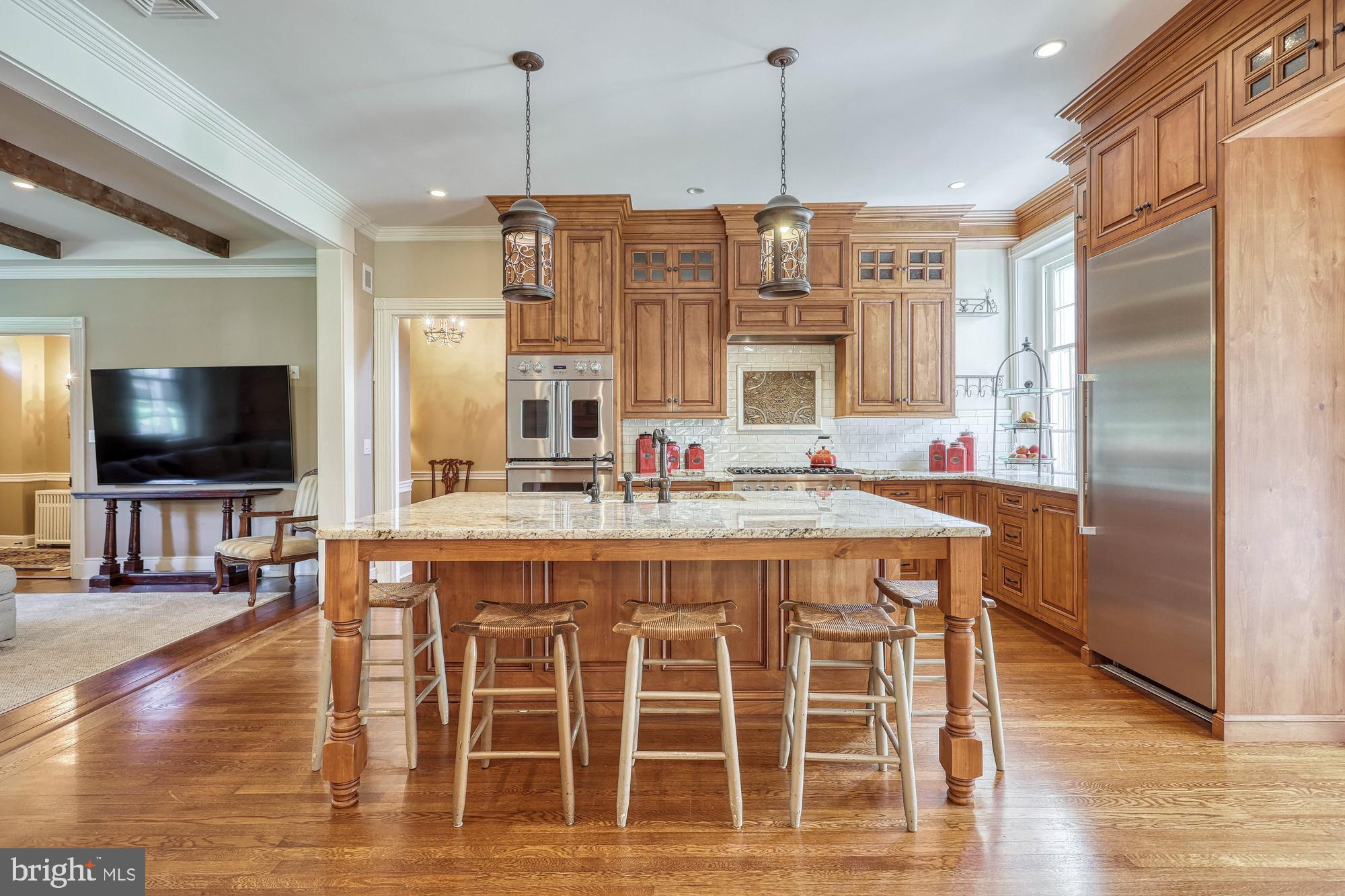 custom kitchen in the main house