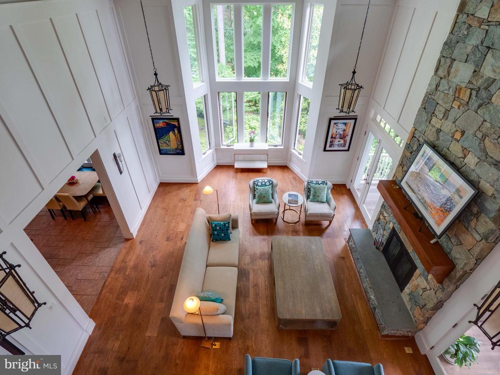 View from upper level to family room - 4651 35TH ST N, ARLINGTON