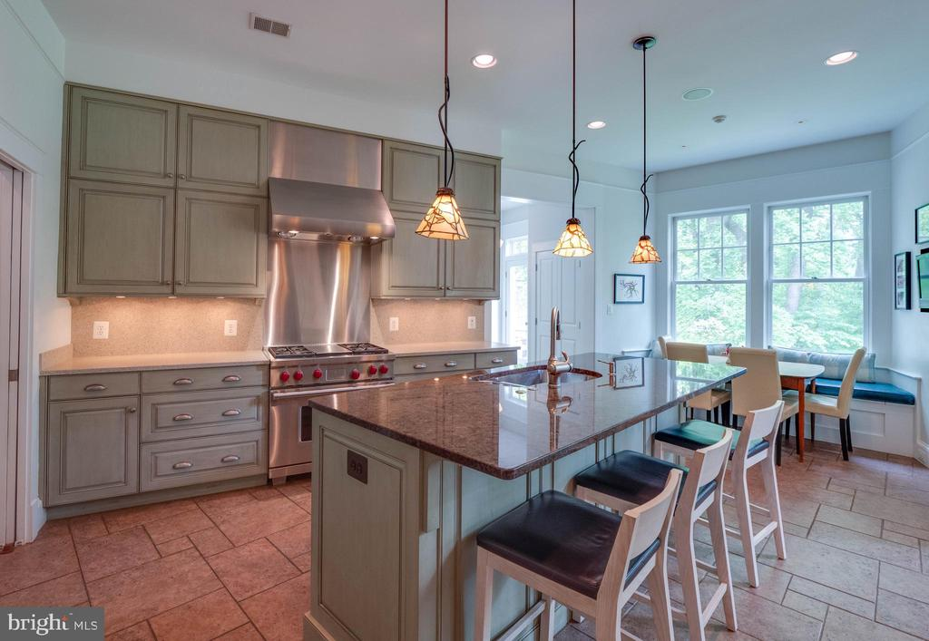 On to the kitchen with large center island - 4651 35TH ST N, ARLINGTON