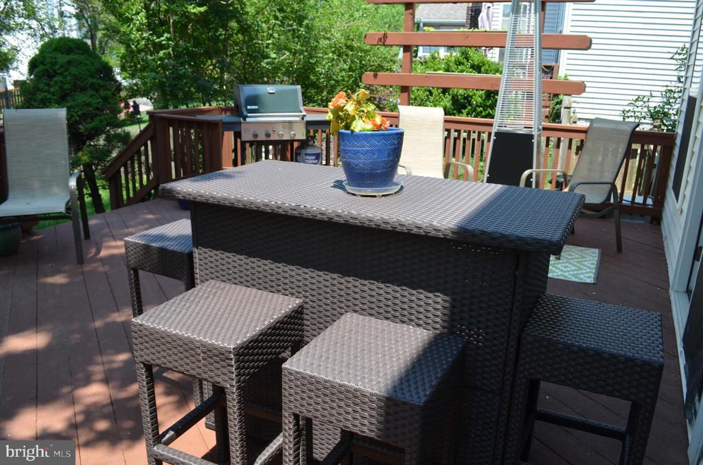 Huge outdoor deck - 6304 SPRING FOREST RD, FREDERICK