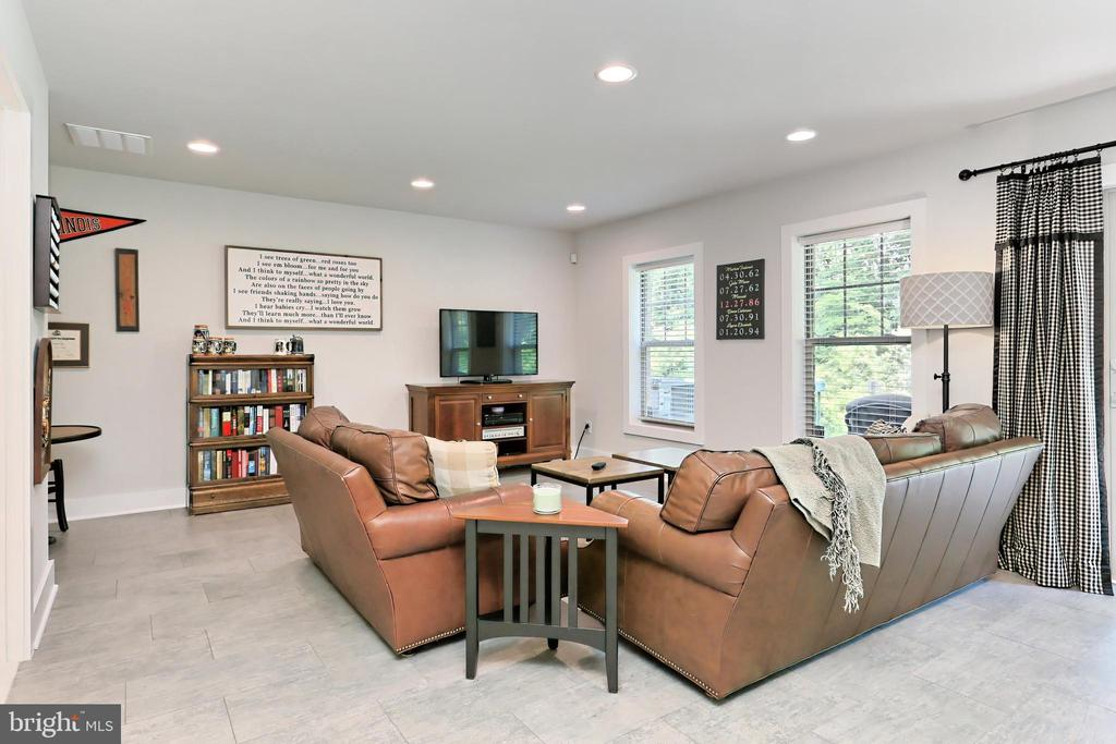 Bright lower level family room with walk-out - 9552 KATELYN ZINN PL, BURKE