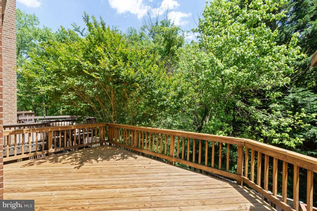 DECK BACKING TO WOODS - 5966 NORHAM DR, ALEXANDRIA