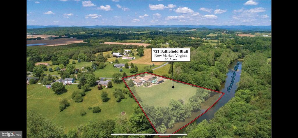 Ariel View of the Property along the River - 721 BATTLEFIELD BLUFF DR, NEW MARKET