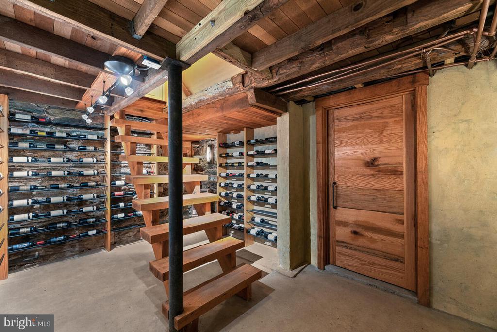 Custom built wine cellar with original stone work - 12645 OLD FREDERICK RD, SYKESVILLE