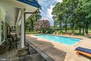 Porch overlooks Pool - 20022 TRAPPE RD, BLUEMONT
