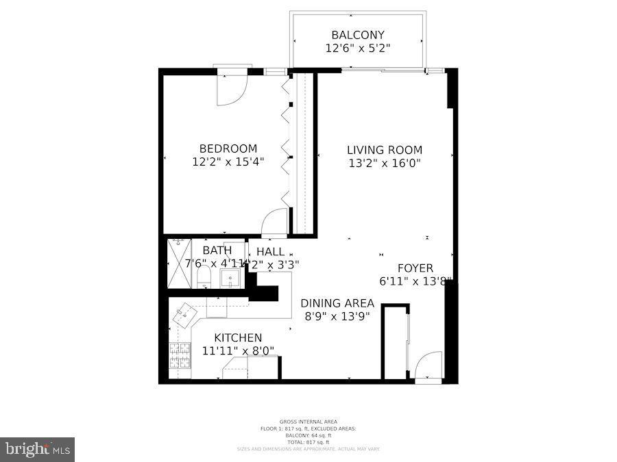 Floor plan - 4600 S FOUR MILE RUN DR #1007, ARLINGTON