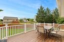 Maintenance free deck off kitchen! - 23 MEADOW LN, THURMONT