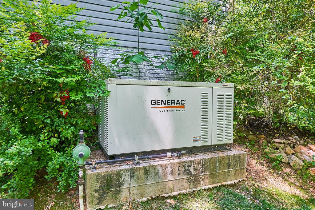 House generator with huge propane tank - 10824 HENDERSON RD, FAIRFAX STATION