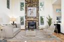Two Story Family Room   Virtually Staged - 9702 WOODFIELD CT, NEW MARKET