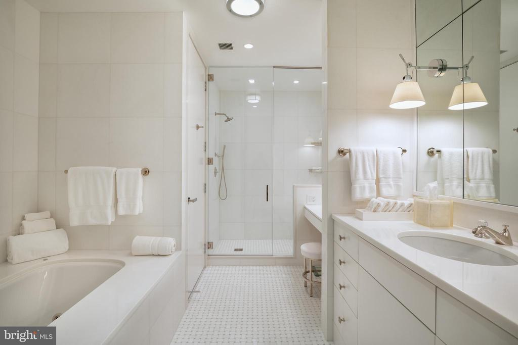 The primary suite spa bath - 1177 22ND ST NW #9G, WASHINGTON