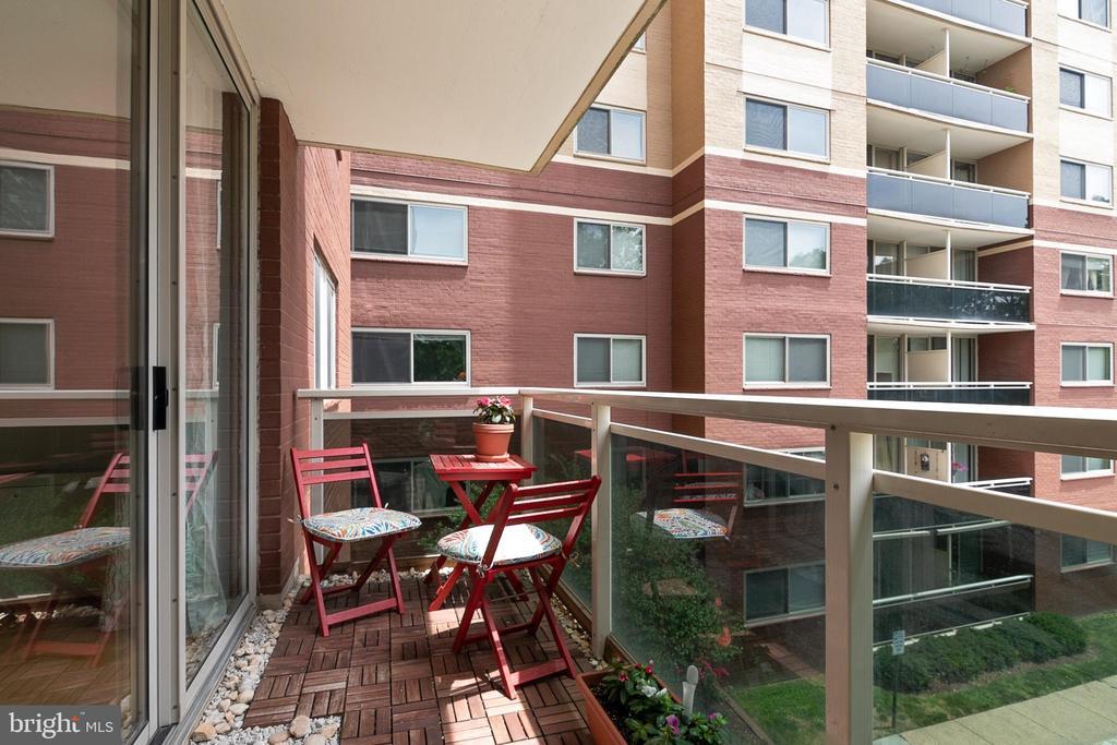 Balcony off of Living Room - 7333 NEW HAMPSHIRE AVE #317, TAKOMA PARK