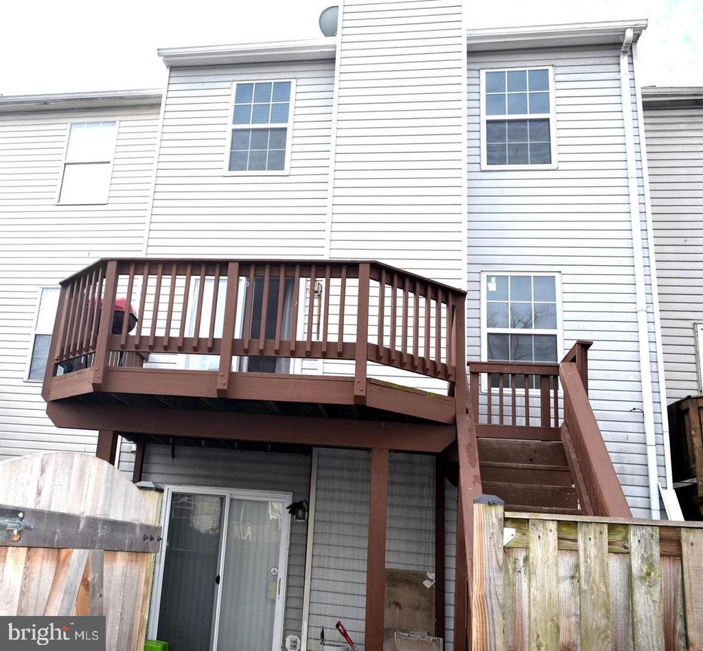 Another view of Rear entrance and Basement - 3636 MCDOWELL CT, DUMFRIES