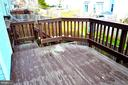 Deck going out from Main Floor - 3636 MCDOWELL CT, DUMFRIES