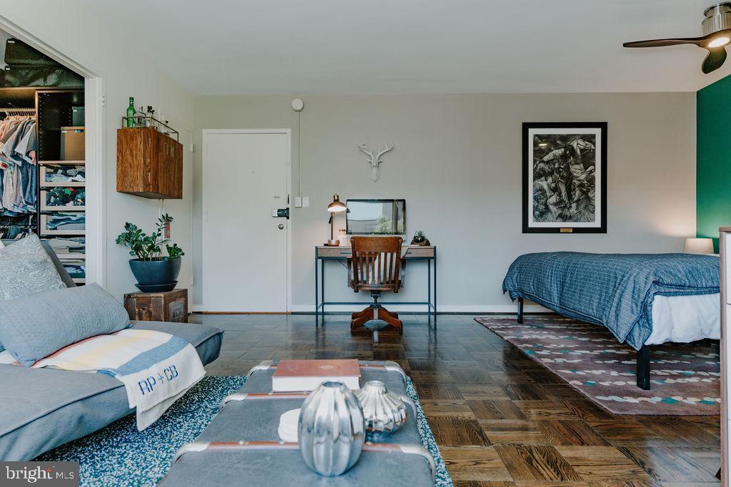 Refinished original hardwood floors - 2720 WISCONSIN AVE NW #703, WASHINGTON