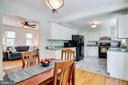 Kitchen and Dining off Family Room - 9312 WINBOURNE RD, BURKE
