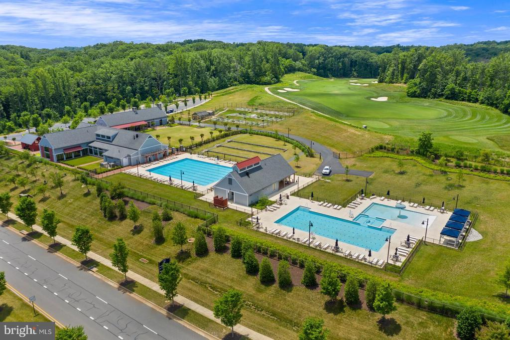 A drone shot of The Shores Club - 17037 SILVER ARROW DR, DUMFRIES