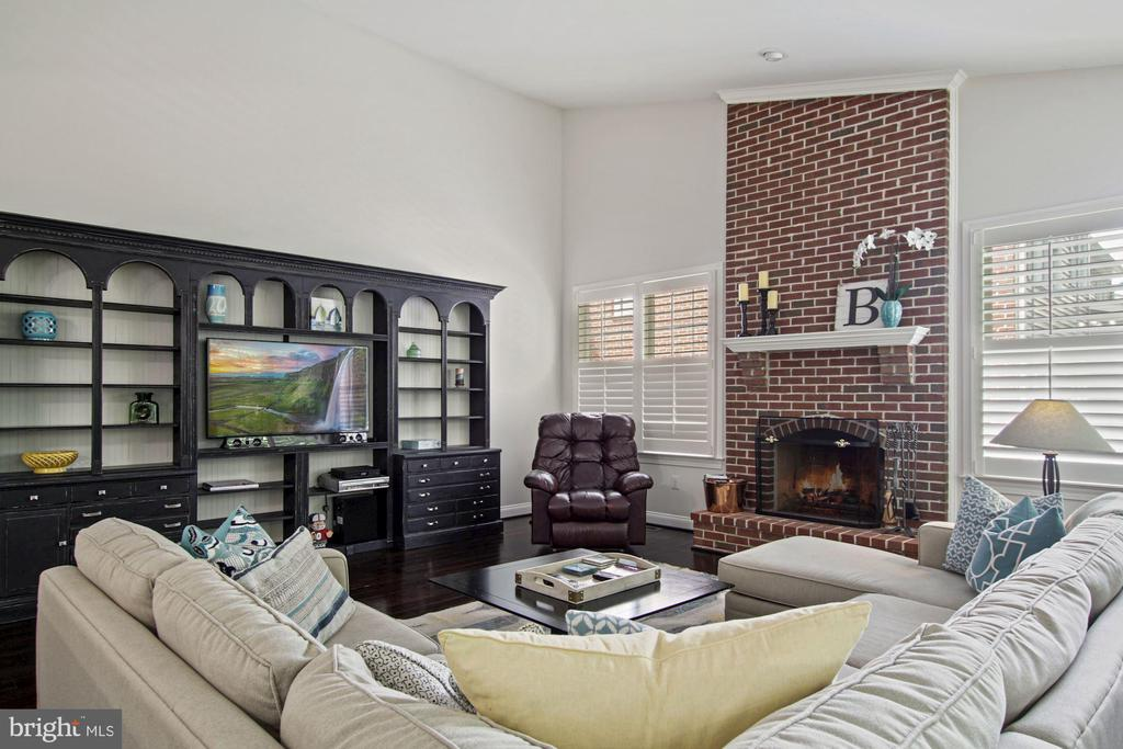 and handsome wood burning  fireeplace - 1114 HEARTFIELDS DR, SILVER SPRING