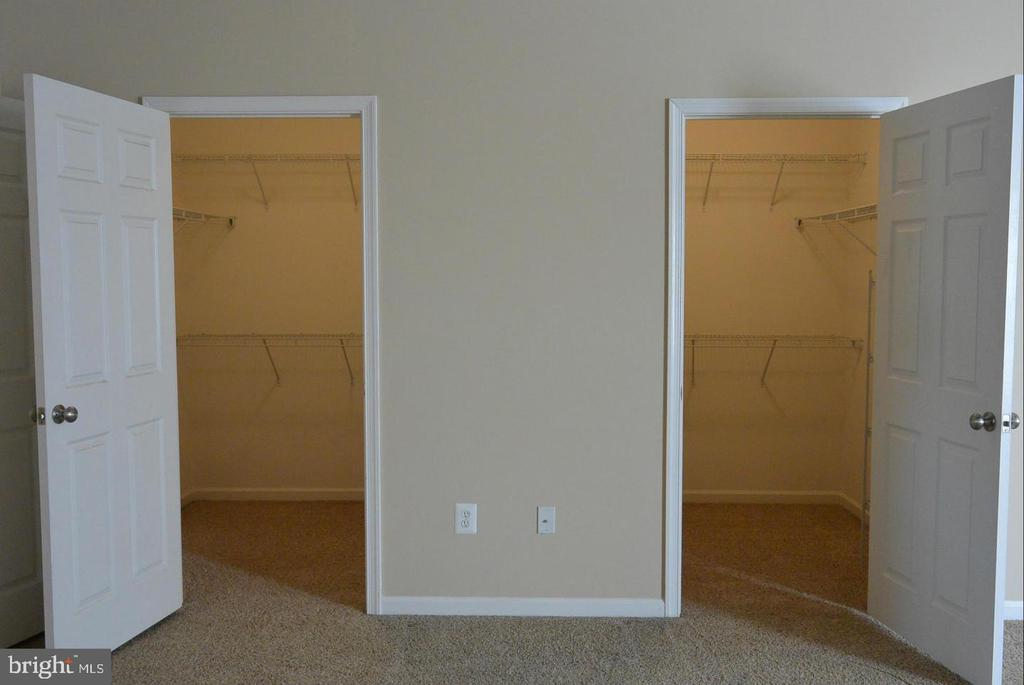 Double closets in the Primary Bedroom - 38 HUNTING CREEK LN, STAFFORD