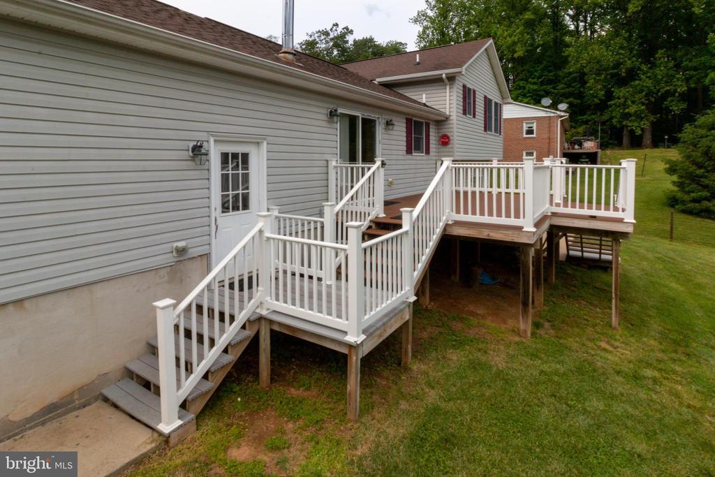 Back yard - 15605 KELBAUGH RD, THURMONT