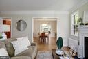Living room expands to formal dining and family - 8622 GARFIELD ST, BETHESDA