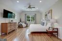 Primary suite offers modern lighting & ceiling fan - 8622 GARFIELD ST, BETHESDA
