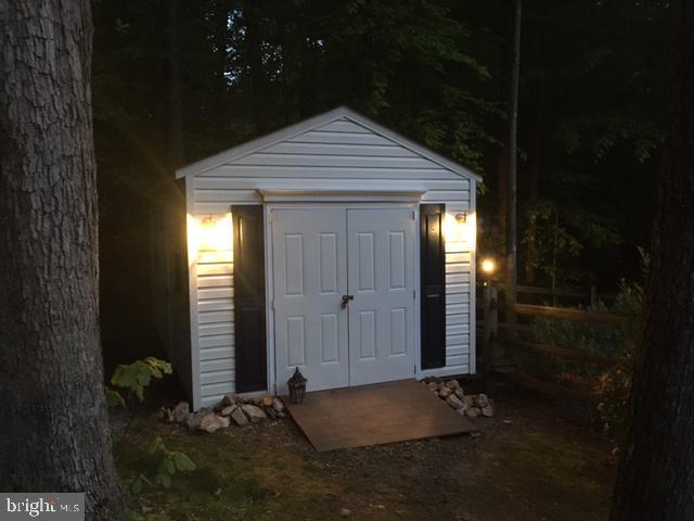 Storage Shed at Night - 6191 TREYWOOD LN, MANASSAS