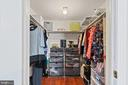 One of the 2 primary closets is a huge walk-in! - 2915 MONROE PL, FALLS CHURCH
