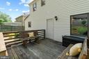 The deck is great for enjoying summer! - 2915 MONROE PL, FALLS CHURCH