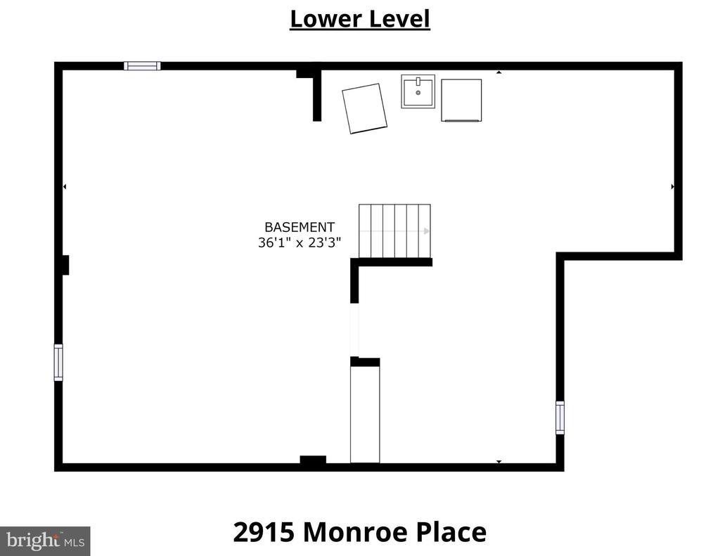Lower Level Floorplan - 2915 MONROE PL, FALLS CHURCH