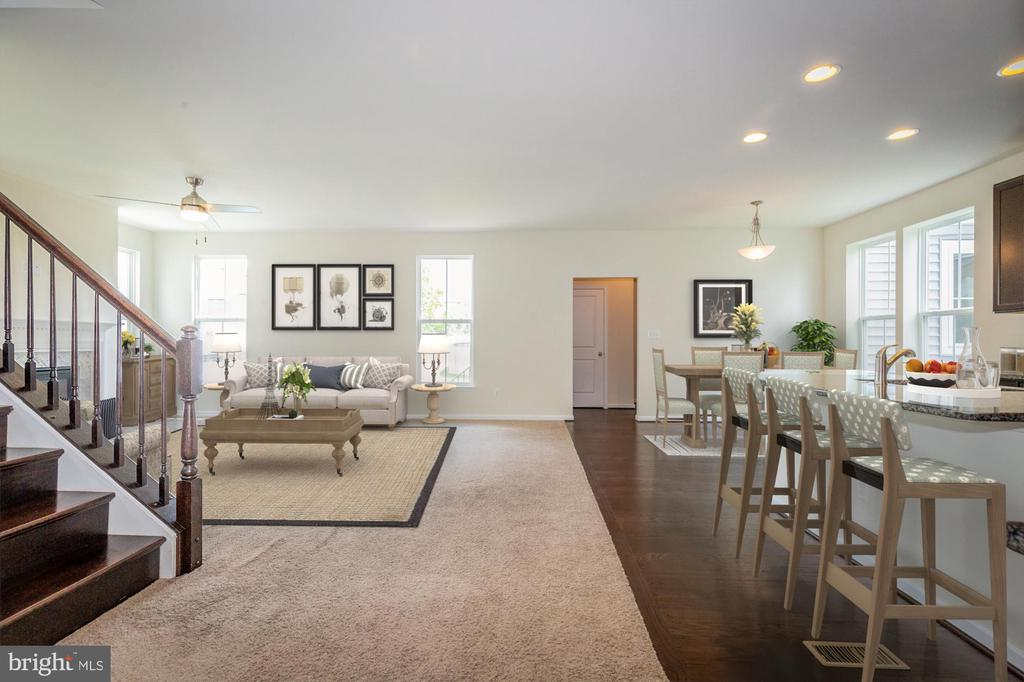 Virtually staged from foyer to family room - 502 APRICOT ST, STAFFORD