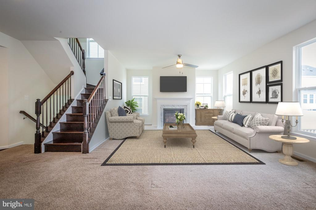 Virtually staged family room - 502 APRICOT ST, STAFFORD