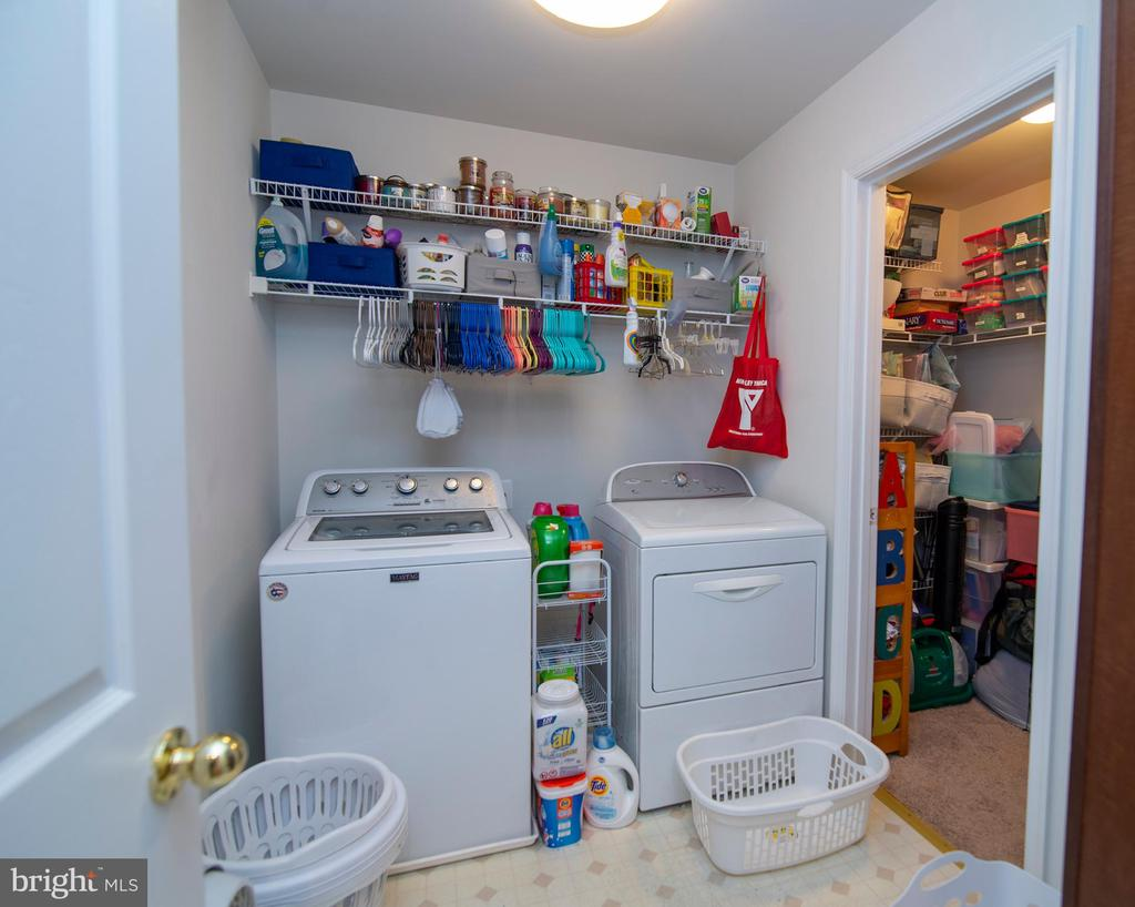 Oversized, upstairs  Laundry with storage - 53 CARRIAGE HILL DR, FREDERICKSBURG