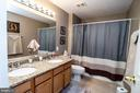 Upstairs bath with double vanity - 53 CARRIAGE HILL DR, FREDERICKSBURG