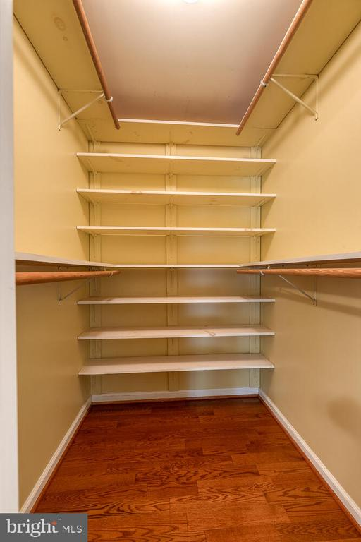 Large primary closet with built in shelving - 710 WIDEWATER RD, STAFFORD