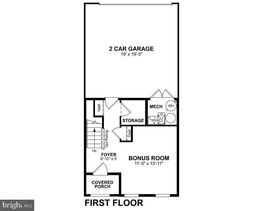 First Level Floor Plan - 1234 MEADOWLARK GLEN RD, DUMFRIES