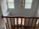 Upstairs hallway looking down. - 53 EUSTACE RD, STAFFORD