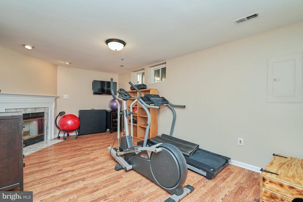 Lower level recreation room - 7937 BLUE GRAY CIR, MANASSAS