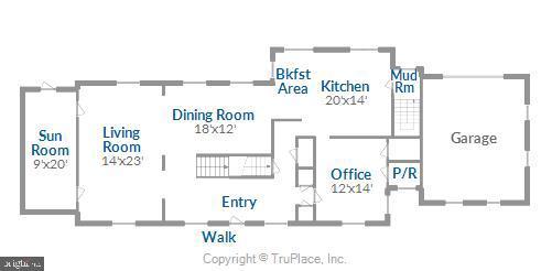 Main level floorplan - 900 MCCENEY AVE, SILVER SPRING