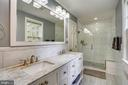 Renovated master bath with shower and separate tub - 900 MCCENEY AVE, SILVER SPRING