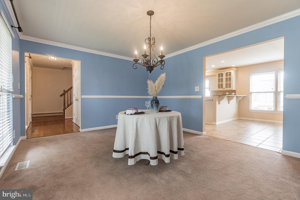 Spacious dining room - 133 NORTHAMPTON BLVD, STAFFORD