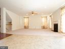 Family Room with Fireplace - 23226 MURDOCK RIDGE WAY, CLARKSBURG