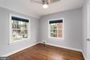 2nd bedroom with hardwood floors - 2740 S TROY ST, ARLINGTON
