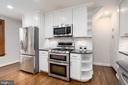 Gourmet kitchen with recessed lighting - 2740 S TROY ST, ARLINGTON