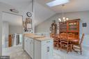 Kitchen open to dining room. - 7420 LAURA LN, FREDERICKSBURG
