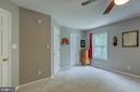 Primary  bedroom with walk in closet. - 7420 LAURA LN, FREDERICKSBURG